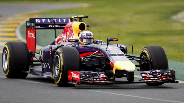 Red Bull Formula One driver Ricciardo of Australia drives during the qualifying session for the Australian F1 Grand Prix in Melbourne