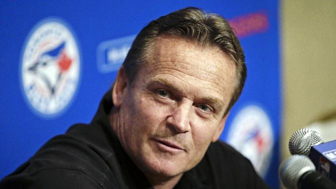 Toronto Blue Jays manager John Gibbons answers questions at the baseball winter meetings on Monday, Dec. 3, 2012, in Nashville, Tenn. (AP Photo/Mark Humphrey)