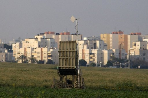 "An Israeli ""Iron Dome"" short-range missile defence system is pictured near the costal city of Ashkelon in 2011. The Israeli army has deployed an Iron Dome air defence system, designed to intercept and destroy rockets, days after two rockets were fired at the town of Eilat near the border with Egypt, a military spokeswoman said Monday"