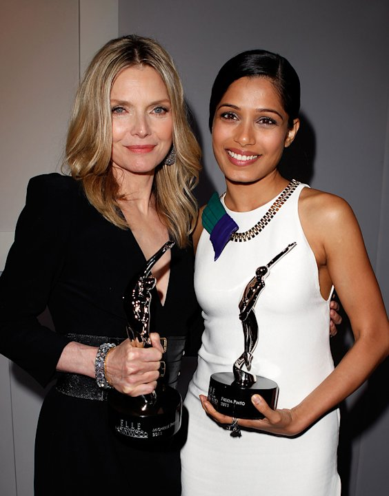 ELLE's 18th Annual Women in Hollywood Tribute Michelle Pfeiffer Freida Pinto