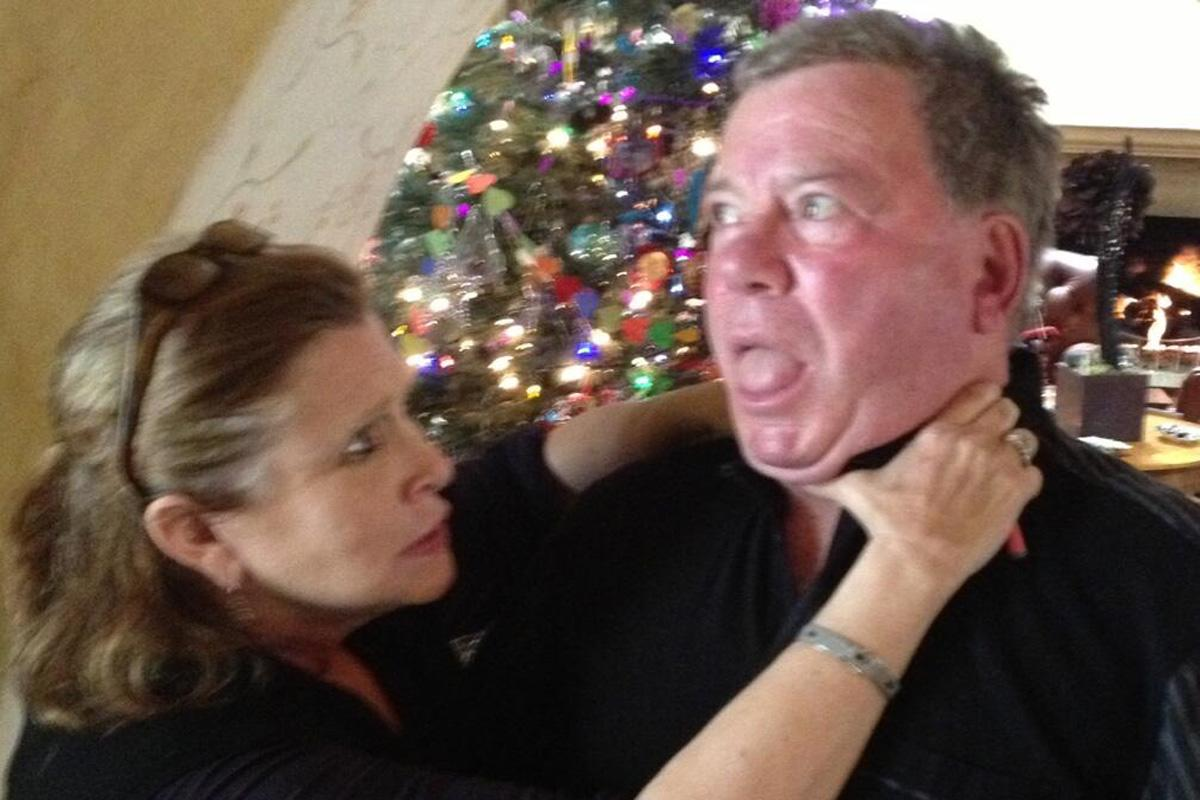 William Shatner's 'feud' with Carrie Fisher spilled over into his reaction to 'Force Awakens'