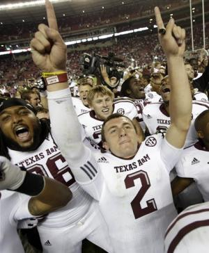 Manziel, No. 15 Texas A&M stun No. 1 Bama, 29-24