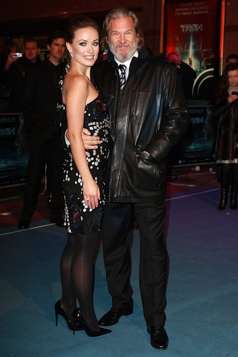 Tron Legacy UK Premiere 2010 Olivia Wilde Jeff Bridges