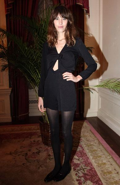 LBDs with a twist: Alexa Chung, Dec 2012 © Rex