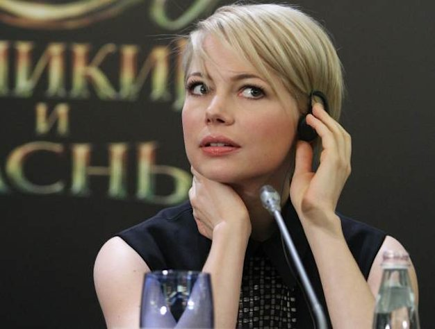 Michelle Williams is seen during a press conference before Walt Disney Pictures Moscow premiere of 'Oz The Great And Powerful' at the Ritz hotel on February 27, 2013 in Moscow -- Getty Premium