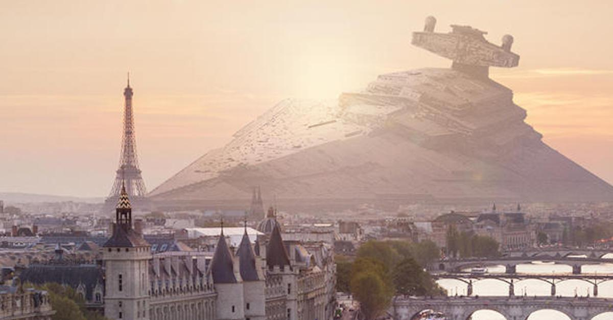 If Star Wars ships crashed into major cities