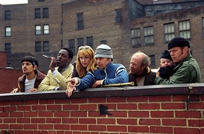 Andrew Davoli , Isaiah Washington , Patricia Clarkson , Sam Rockwell , Michael Jeter and William H. Macy in Welcome To Collinwood