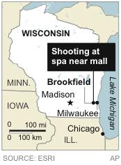 Map locates Brookfield, Wis., site of shooting near shopping mall