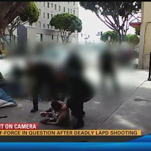 Los Angeles police kill man in struggle captured on video 11:00 a.m.