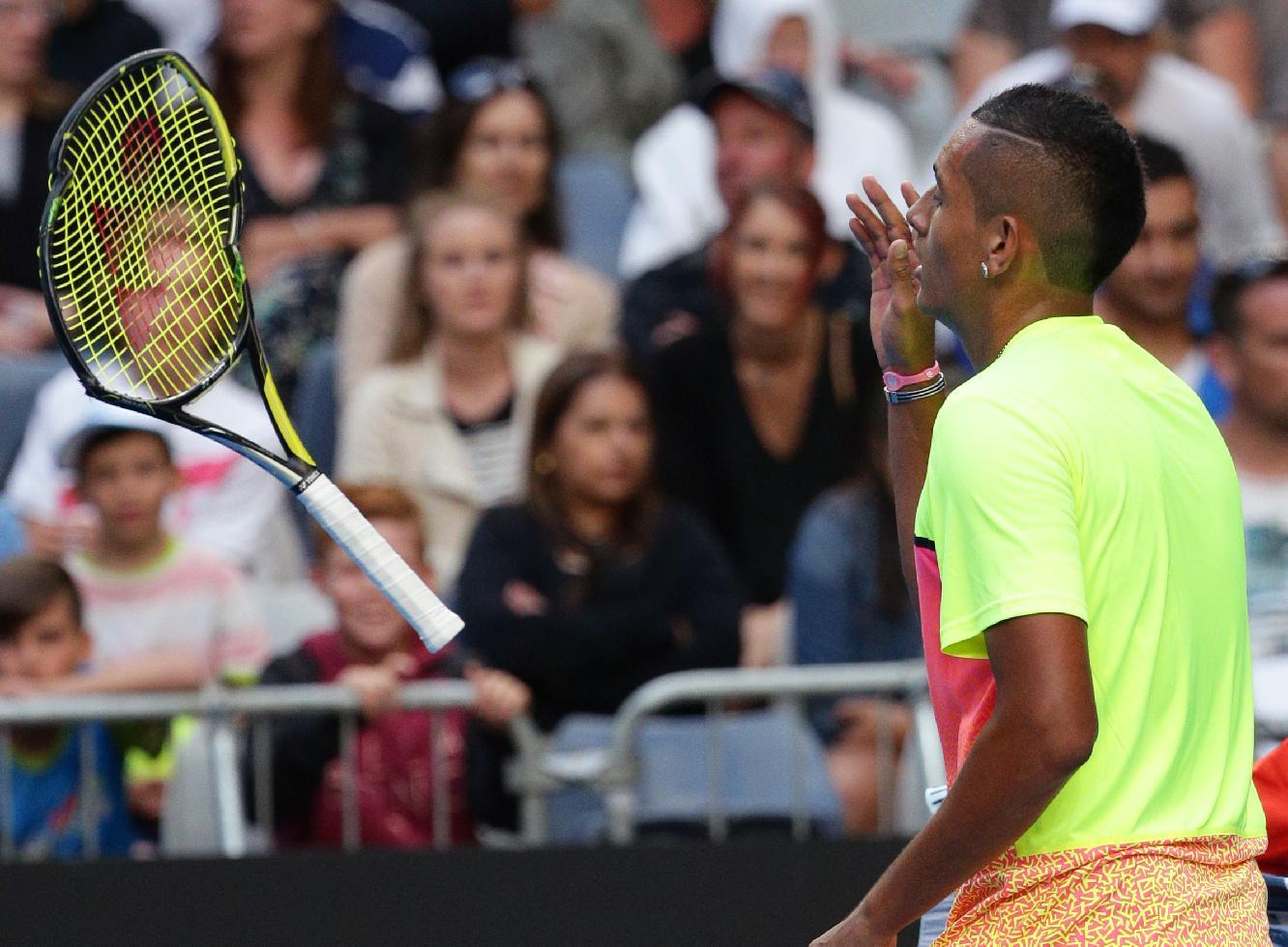 Emotional or not, Kyrgios puts on a show at Aussie Open