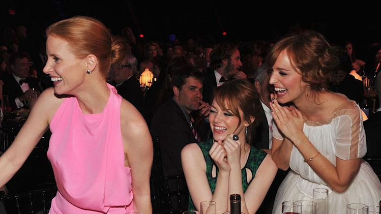 Critics Choice Party pics 2012 Jessica Chastain Emma Stone Ahna O'Reilly