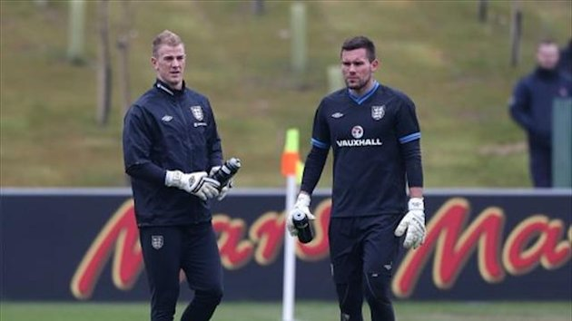 Joe Hart, left, has vowed to keep Ben Foster, right, out of the England team