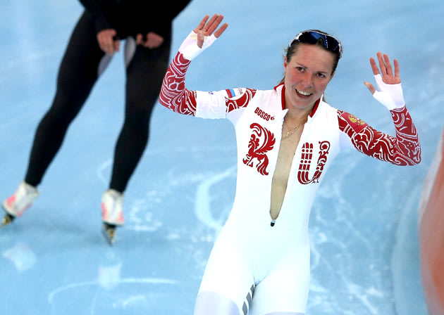 Russian Speed Skater Forgets Shes Naked Under Her Suit