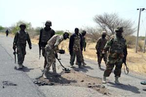 Picture released by the Nigerian Army on February 23, …