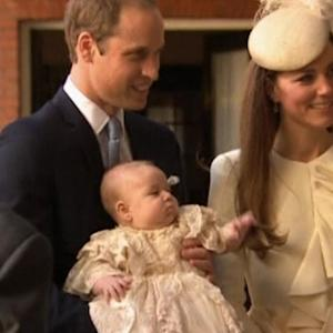 Baby Prince George christened in private ceremony