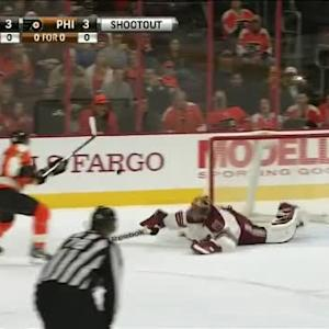 Mike Smith Save on Jakub Voracek (00:00/SO)