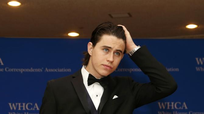 Videographer Nash Grier arrives for the annual White House Correspondents' Association dinner in Washington