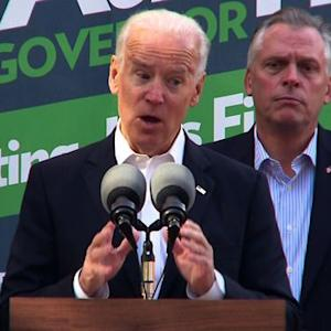 Biden in Virginia: Cuccinelli is the