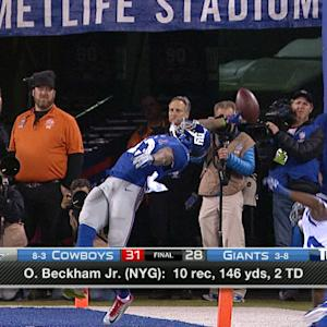 New York Giants wide receiver Odell Beckham's catch: Is it the best ever?