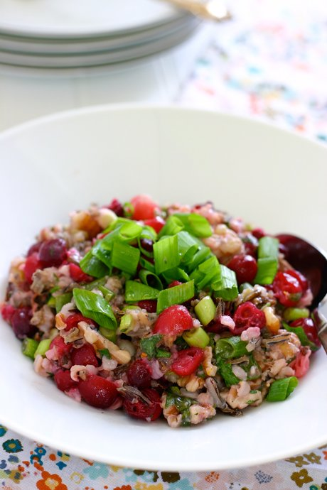 Wild Rice Salad with Cranberries