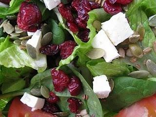 Cranberry Feta Salad with Pumpkin Seeds