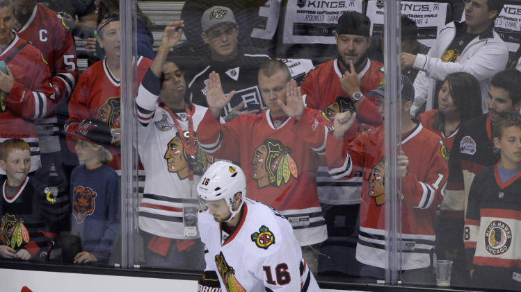 NHL: Stanley Cup Playoffs-Chicago Blackhawks at Los Angeles Kings