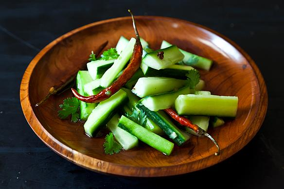 Jeffry Alford and Naomi Duquid's Spicy Cucumber Salad