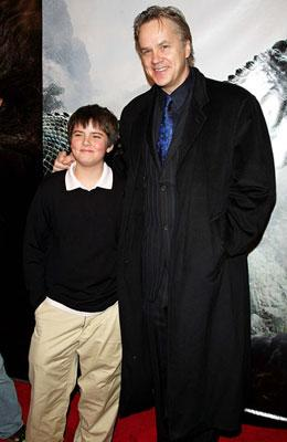 Tim Robbins with son Miles at the New York premiere of Universal Pictures' King Kong
