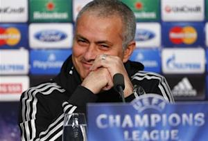 Chelsea manager Mourinho addresses a news conference in Basel