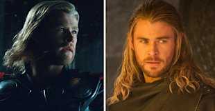 Thor's hair in 2011 and Thor's hair now