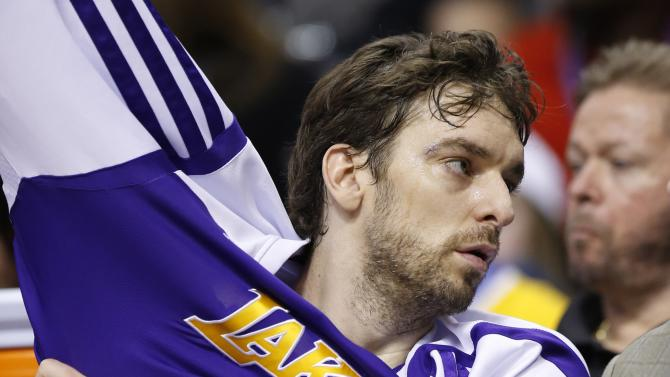 Lakers center Pau Gasol ruled out against Jazz