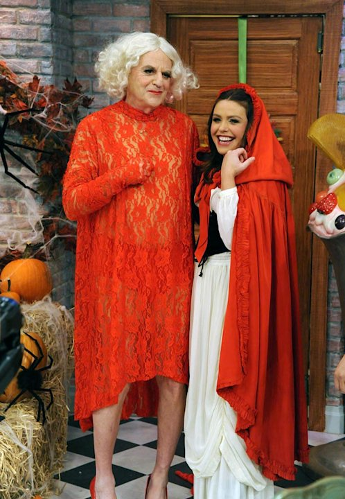 "Jerry Springer and Rachael Ray in the Halloween episode of ""The Rachael Ray Show."""