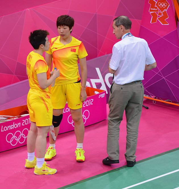 China badminton players
