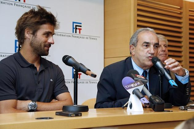 President Of French Tennis Federation Jean Gachassin (R) Gives AFP/Getty Images