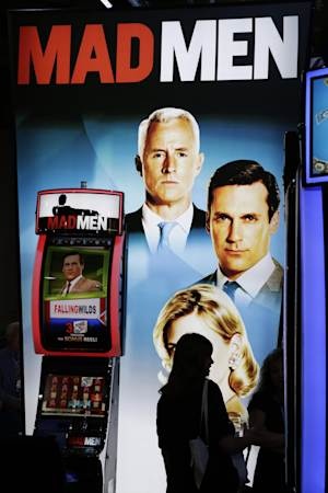 A Mad Men machine is on display at the WMS Gaming booth …