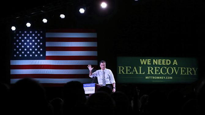Republican presidential candidate, former Massachusetts Gov. Mitt Romney gestures while speaking at an election campaign rally at the Reno Event Center in Reno, Nev., Wednesday, Oct. 24, 2012. (AP Photo/Charles Dharapak)