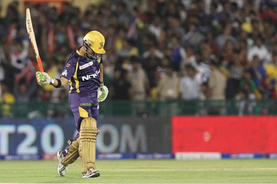 Kolkatta Knight Riders captain Gautam Gambhir walk back to pavilion during match 44 of the Pepsi Indian Premier League between The Delhi Daredevils and the Kolkata Knight Riders held at the Chhattisga