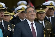US Defense Secretary Leon Panetta, pictured during a ceremony at Peru army headquarters in Lima, on October 6. The United States is seeking to update its defense accords with Latin American countries and has started talks with Uruguay and Peru to that effect, according to the Pentagon