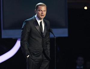 Actor Dicaprio introduces a segment on Director Scorsese at the 17th Annual Critics' Choice Movie Awards in Los Angeles