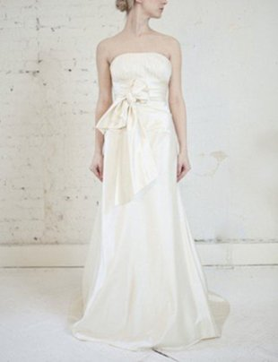 JENNY LEE SILK DUCHESS SATIN GOWN, $2,200 (FROM $5,000)