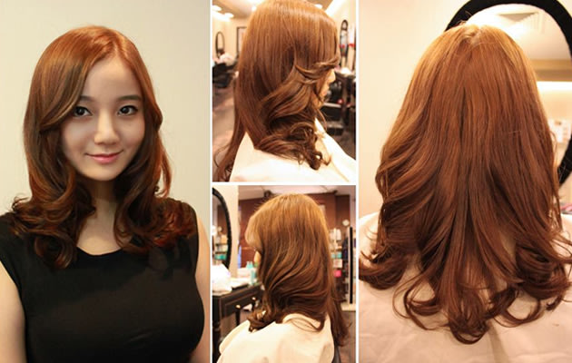 curls quot  are wavy  loose and natural large curls  nothing like the    Korean Hair 2014