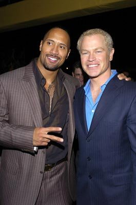 "Premiere: Dwayne ""The Rock"" Johnson and Neal McDonough at the LA premiere of MGM's Walking Tall - 3/29/2004"