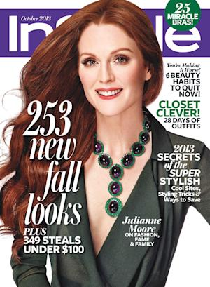 This magazine cover image released by InStyle shows actress Julianne Moore on the cover of the October 2013 issue. (AP Photo/InStyle)