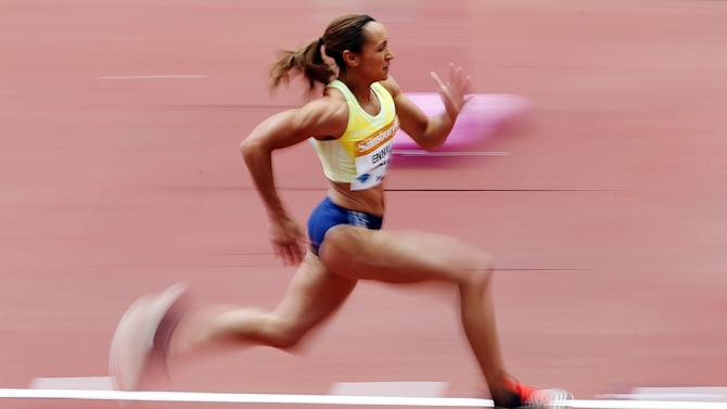 Great Britain's Jessica Ennis Hill in action during the Women's long jump
