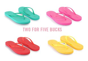 Flip Flops in Every Color