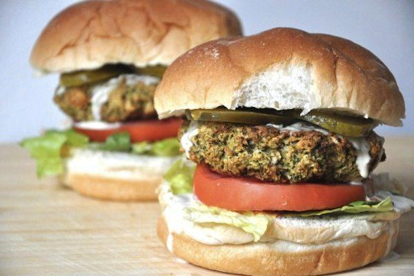 Baked Broccoli Burgers
