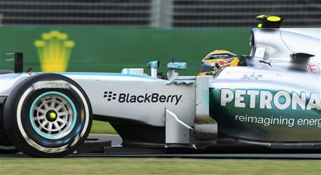 Mercedes Formula One driver Lewis Hamilton of Britain drives during the Australian F1 Grand Prix at the Albert Park circuit in Melbourne