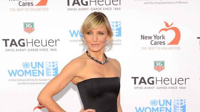 NEW YORK, NY - NOVEMBER 10:  Cameron Diaz attends TAG Heuer Celebrates A Night Under The Stars With Ambassador Cameron Diaz To Launch Limited-Edition LINK And Benefit UN Women And New York Cares' Sandy Relief Effort on November 10, 2012 in New York City.  (Photo by Rob Loud/Getty Images for TAG Heuer)
