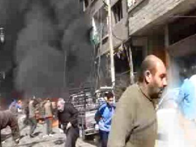 Raw: Dead, Injured Pulled From Fire in Syria