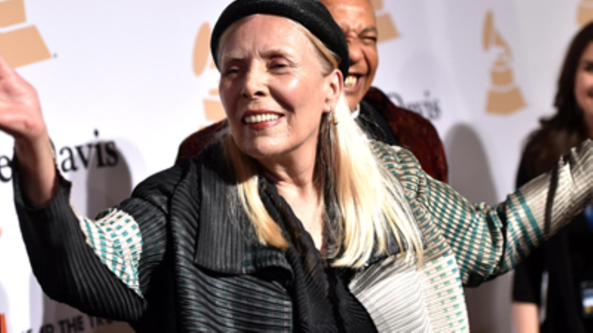 Singer Joni Mitchell hospitalized in Los Angeles
